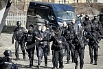 As part of the investigation after the arrest of the organized criminal group, Veljko Beluvuk, known as Velja Nevolja, was brought to the stadium of the Partizan Football Club accompanied by the police.