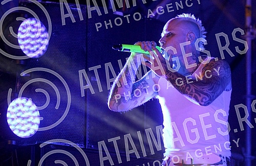Concert of group The Prodigy on last day  (4th) of EXIT 2016.