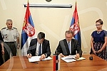 Zoran Djordjevic - Minister of Defense and Dusan Vujovic - Minister of Finance signed a protocol on students' training in public finance at the Military Academy