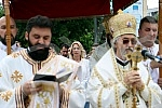 The celebration of the Day of Savior, the baptismal feast of the city of Banja Luka, began with the Holy Hierarch's Liturgy in the Church of Christ the Savior, and after the liturgy, the sacramental stake and consecrated wheat were broken, followed b
