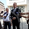 The president of the Freedom and Justice Party, Dragan Djilas, gave a statement to the First Basic Public Prosecutor's Office regarding the charges he filed against Serbian President Aleksandar Vucic and Finance Minister Sinisa Mali for
