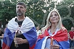 A gathering of support for Bishop Ioaniki and the clergy of the Serbian Orthodox Church in Montenegro was held in front of the Church of St. Mark, entitled