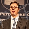 Serbian Prime Minister Aleksandar Vucic, Minister of Justice Nela Kuburovic and Director of the Office for Kosovo and Metohija Marko Djuric addressed the media on the occasion of release of Ramush Haradinaj in France. 