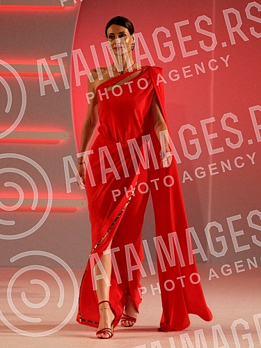 Opening night of 39th Belgrade Fashion Week held in Crowne plaza hotel. Fashion show: