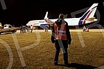 The first airplane from Germany with mobile hospital equipment procured by Republika Srpska as part of the fight against the corona virus has landed at the Mahovljani International Airport near Banja Luka tonight.