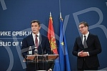 Press conference after the meeting of Serbian President Aleksandar Vucic and Prime Minister Ana Brnabic with US President's Special Envoy for Belgrade-Pristina Dialogue Richard Grenell and Executive Director of the International Development Finance C