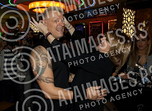 Singer Djordje David celebrating birthday at klub Admiral.