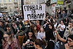 Protest of a part of the opposition outside the building of the Belgrade police in 29th November for being arrested in the RTS building.