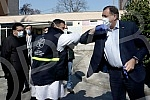 Serbian member of the BiH Presidency Milorad Dodik and director general of the University Clinical Center of Republika Srpska Vlado Djajic visited the facilities in the Old Surgery Circle, where 400 beds intended exclusively for persons with coronavi