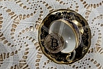 Crypto currency Bitcoin.