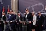 President of the Republic of Serbia Aleksandar Vucic meets with Serbian Member of the Presidency of Bosnia and Herzegovina Milorad Dodik and representatives of parliamentary parties in Republic of Srpska.